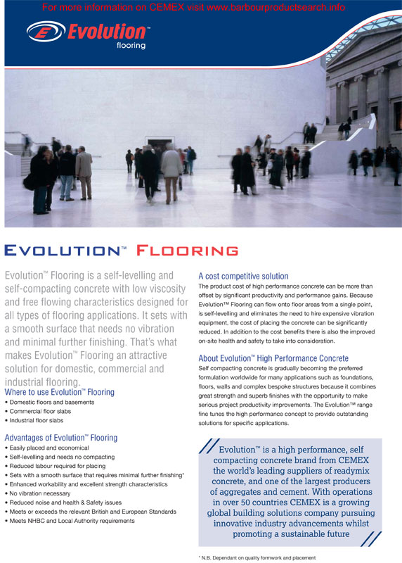 Evolution - Safety Data Sheet - Flowing Concrete