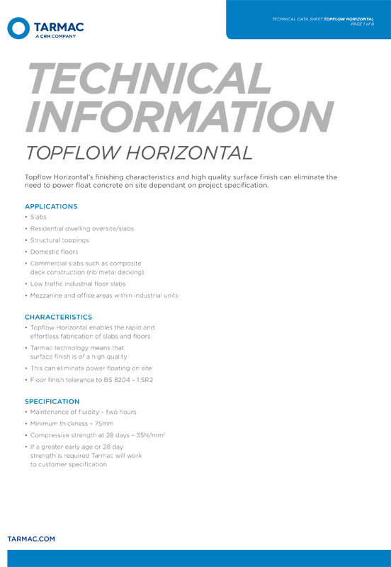 Top Flow - Safety Data Sheet - Flowing Concrete