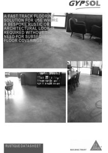 Gypsol Rustique - Safety Data Sheet - Finished Screed